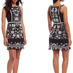 NWT- Chelsea & Violet Black Beaded Cocktail Dress